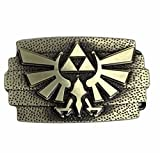 Zelda Tri Force Goldtone Logo Metal Enamel Belt Buckle