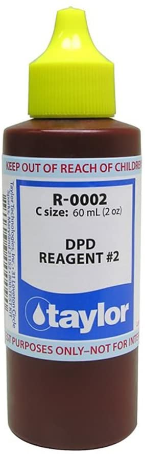 Taylor Technologies R-0002-C No.2 Reagent DPD Liquid for Swimming Pool, 2-Ounce