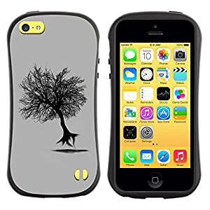 "Hypernova Slim Fit Dual Barniz Protector Caso Case Funda Para Apple iPhone 5C [Árbol del vuelo""]"