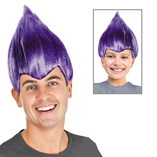 Trolls Costume Purple Troll Doll Costume Purple Troll Wig Purple Troll Hair (Halloween Troll Doll Costume)