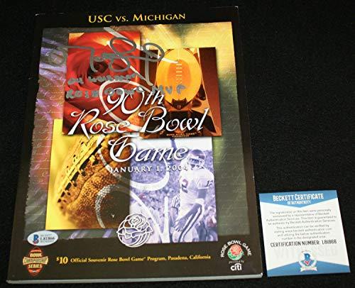 Matt Leinart Autographed Signed Memorabilia 90Th Rose Bowl Program Usc Trojans - Beckett Authentic
