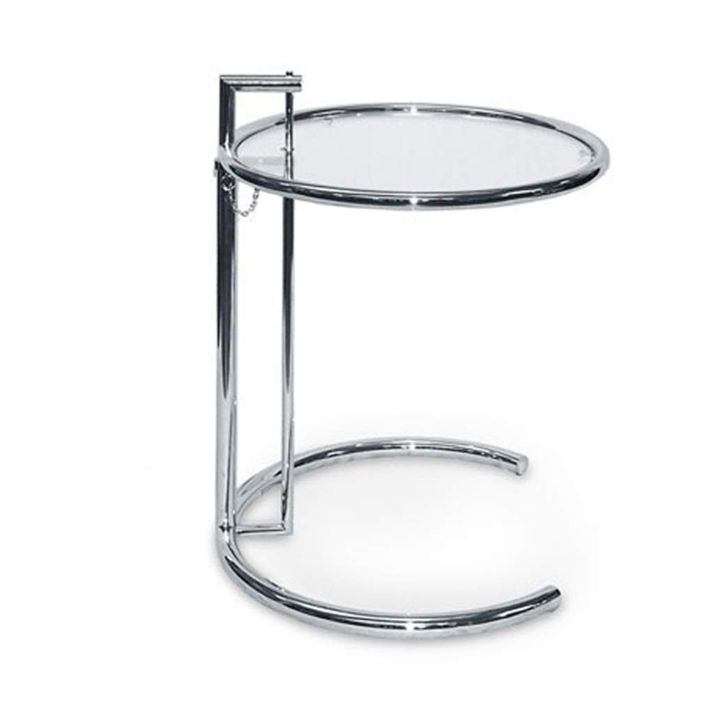 LQQGXLBedside Table Creative Glass Coffee Table Round Modern Living Room Balcony Coffee Table Small Side Table by LQQGXL