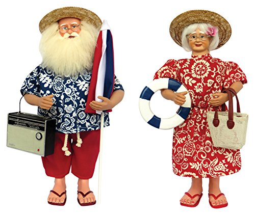 Santa's Workshop 8635 Mrs Day At the Beach Figurine, Set of 2, 15