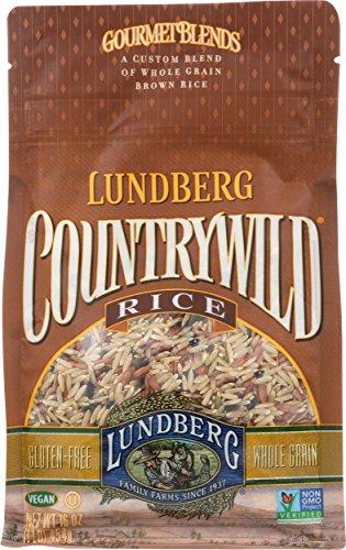 Rice Grain Whole Cakes (Lundberg Family Farms Country Wild Rice, 16 Ounce)