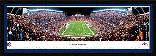 (Denver Broncos - End Zone - Blakeway Panoramas NFL Posters with Select Frame)