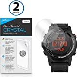 Garmin Fenix 2 Screen Protector, BoxWave® [ClearTouch Crystal (2-Pack)] HD Film Skin - Shields From Scratches for Garmin Fenix 2