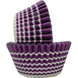 Regency Wraps Greaseproof Baking Cups, Purple Circle, Standard, 40 Count