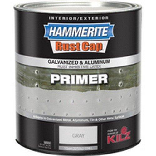Hammerite Rust Cap 48300 1 Qt Gray Galvanized & Aluminum Latex Primer by Masterchem Industries