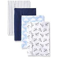 Hudson Baby Baby Flannel Burp Cloths, Paper Airplanes, One Size