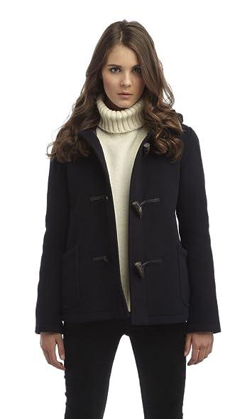 Womens Short Duffle Coat -- Navy: Amazon.co.uk: Clothing