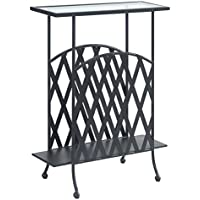 Charlton Home Dylan End Table, Metal Side Table