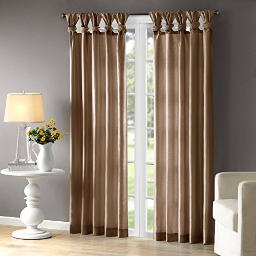 """Taupe Curtains For Living room , Transitional Fabric Window Curtains For Bedroom , Solid Emilia Window Curtains , 50X84"""", 1-Panel Pack"""