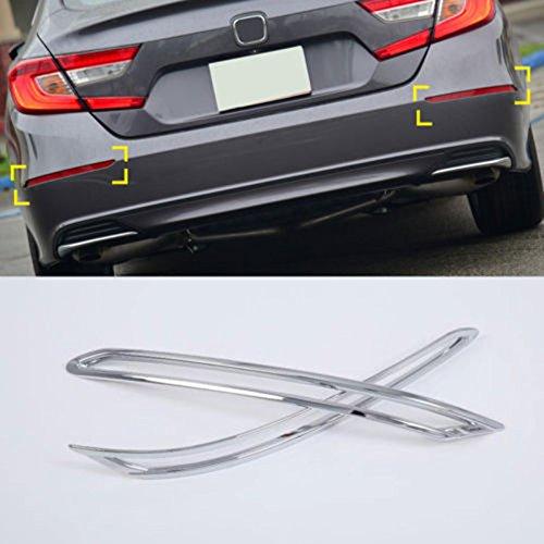 UltaPlay Chrome Car Rear Fog Light Tail Lamp Cover Trim 2pcs for Hon