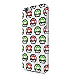 Super Mario Green & Red Mushrooms Pattern Hard Plastic Snap-On Case Skin Cover For iPhone 6 Plus / iPhone 6s Plus
