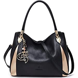 FOXER Women Genuine Leather Handbag Tote Purse Top Handle Satchel Shoulder Bag