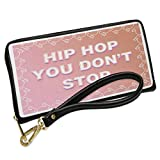 Wallet Clutch Hip Hop You Don't Stop Bunny Border with Removable Wristlet Strap Neonblond