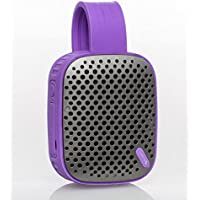 DOSS BS1 Water Resistant Bluetooth 4.0 Outdoor Speaker, Hands-free Portable Speakerphone with Built-in Microphone, 12 hrs of Playtime, Control Buttons | Purple