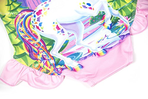 079f5a24df Wenge Girls Unicorn Bathing Suit Rainbow Unicorn Swimsuit One Piece Swimwear (Unicorn Fantasy)