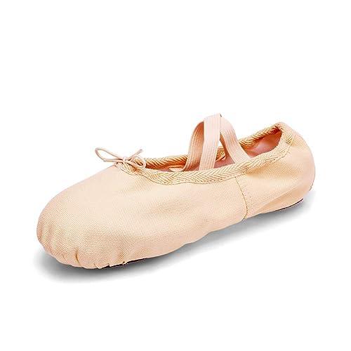 TRIWORIAE - Zapatos de Baile Ballet Zapatillas de Danza/Yoga/Pilates/Gimnasia para Niña Mujer