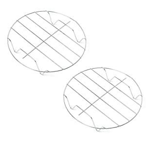 Cooking Rack Round, 9-Inch Stainless Steel Round Rack for cooking Cooling Steaming Baking, Fit Air Fryer Stockpot Instant Pot Pressure Cooker, 2 PACK -Oven & Dishwasher Safe