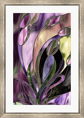 - Swaying Glass by Mindy Sommers Framed Art Print Wall Picture, Silver Scoop Frame, 27 x 38 inches