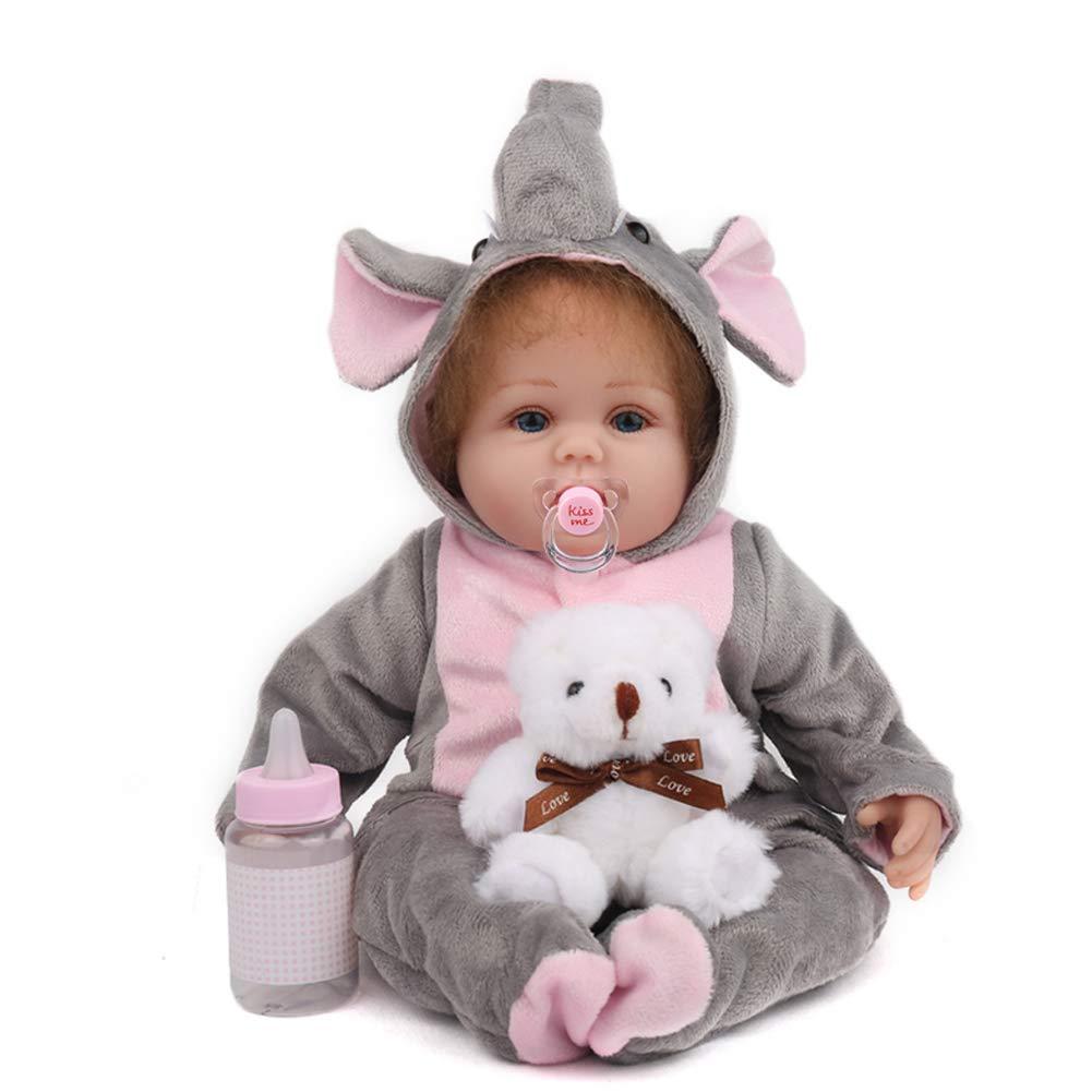 Haisen Van Silikon Reborn Doll Bonecas Baby wiedergeborene Realistische Magnetic Pacifier Bebe Reborn Doll 16 Zoll 45CM für Mädchen Geschenk