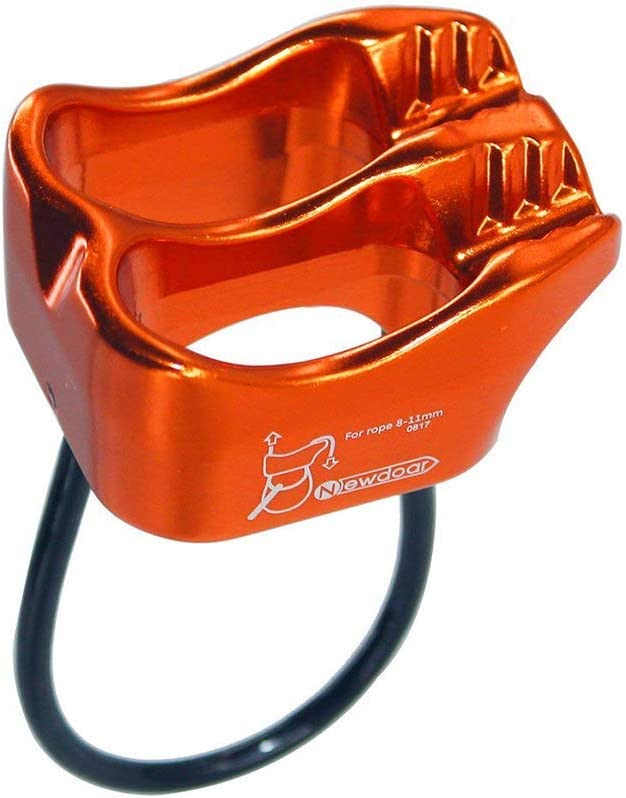 NewDoar Climbing Abseiling Belay Device Professional ATC Rappelling Descender 25KN V-grooved Safety Equipment (Orange) : Sports & Outdoors