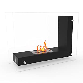 Amazon.com: Regal Flame Black Avec Ventless Free Standing Bio ...