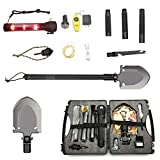 Handvoll Folding Survival Shovel,Multifunction Military Foldable Shovel for Outdoor Adventure, Hiking, Backpacking,Hunting Camping Gear,Tactical Entrenching (27 Inchs)