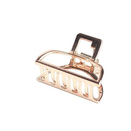 Mini Gold /& Diamanté Rhinestones Rectangle Hair Claw Grip Clamp Clip 4 Colours
