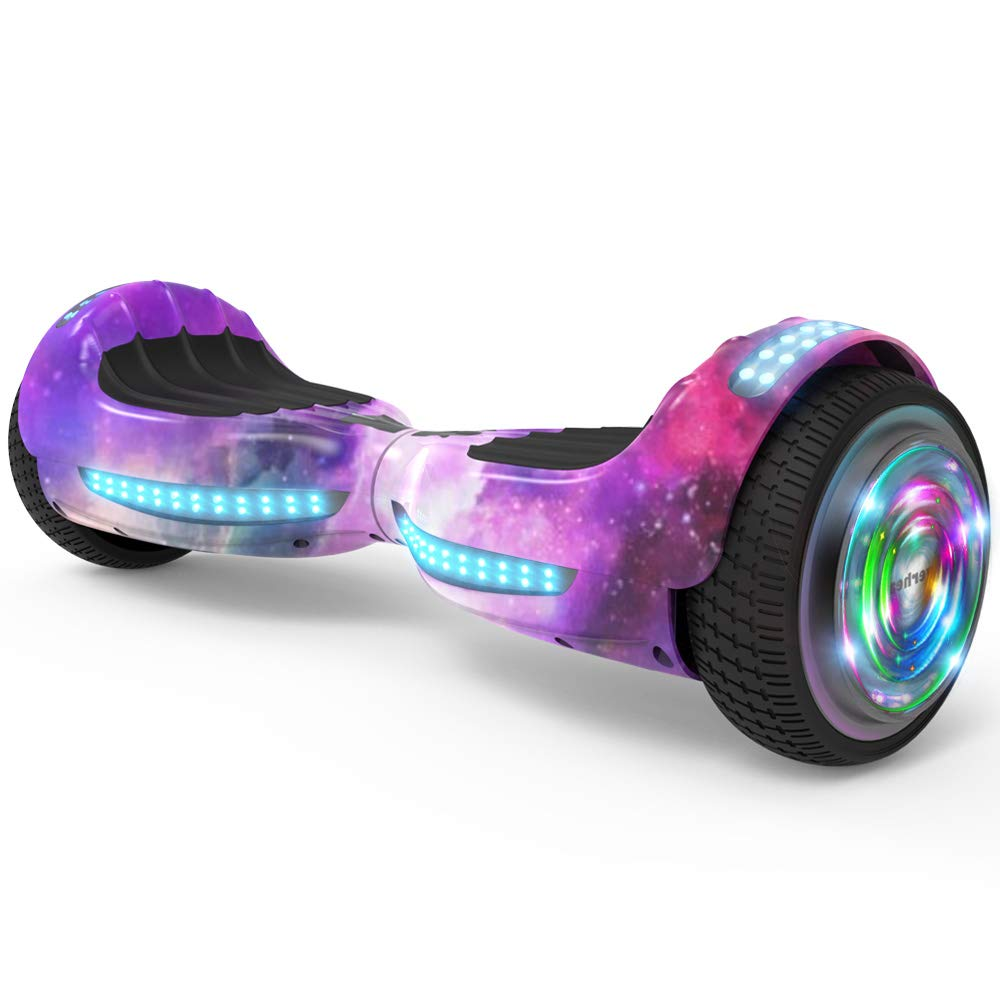 Hoverboard UL 2272 Certified Flash Wheel 6.5'' Wireless Speaker with LED Light Self Balancing Wheel Electric Scooter (Galaxy)