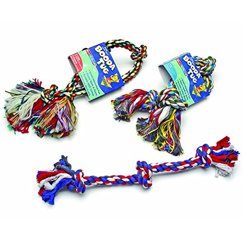 Rope 3 Booda Knot (Booda 3-Knot Rope Tug Multi-Color Medium)