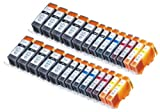 26 Pack Compatible Canon CLI-221 , PGI-220 10 Big Black, 4 Small Black, 4 Cyan, 4 Magenta, 4 Yellow for use with Canon PIXMA iP3600, PIXMA iP4600, PIXMA iP4700, PIXMA MP560, PIXMA MP620, PIXMA MP620B, PIXMA MP640, PIXMA MP640R, PIXMA MX860, PIXMA MX870. Ink Cartridges for inkjet printers. CLI 221BK , CLI 221C , CLI 221M , CLI 221Y , CLI-221BK , CLI-221C , CLI-221M , CLI-221Y , CLI221BK , CLI221C , CLI221M , CLI221Y , PGI 220BK , PGI-220 BK , PGI-220BK , PGI220BK © Blake Printing Supply