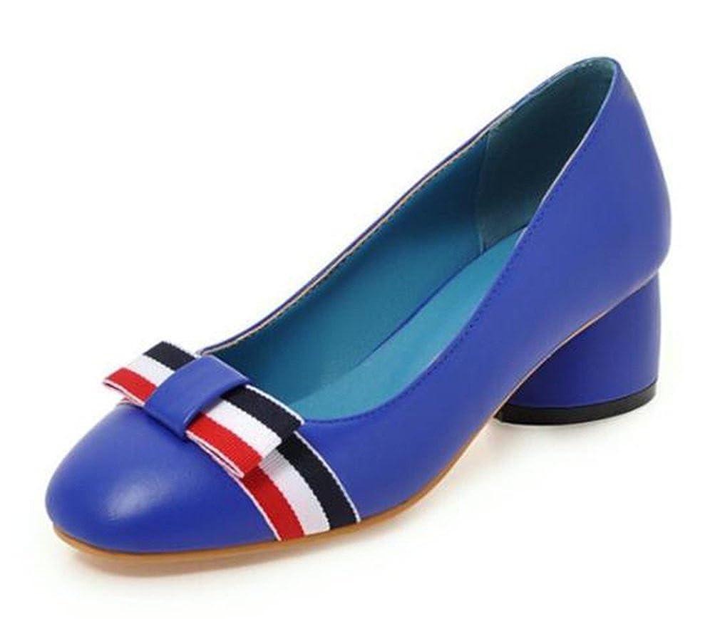 Easemax Damen Fashion Geschlossen Low Cut Pumps Businessschuhe Absatzschuhe mit Chunky Heels