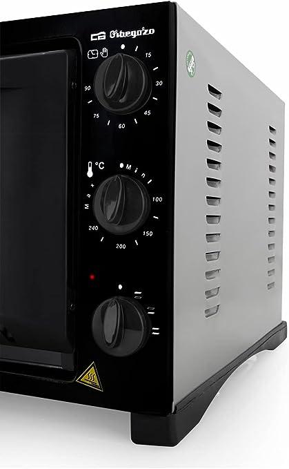 Orbegozo HO 321 - Horno de sobremesa, 32 L, temporizador, calor superior e inferior, regulador de temperatura, indicador luminoso, 1300 W