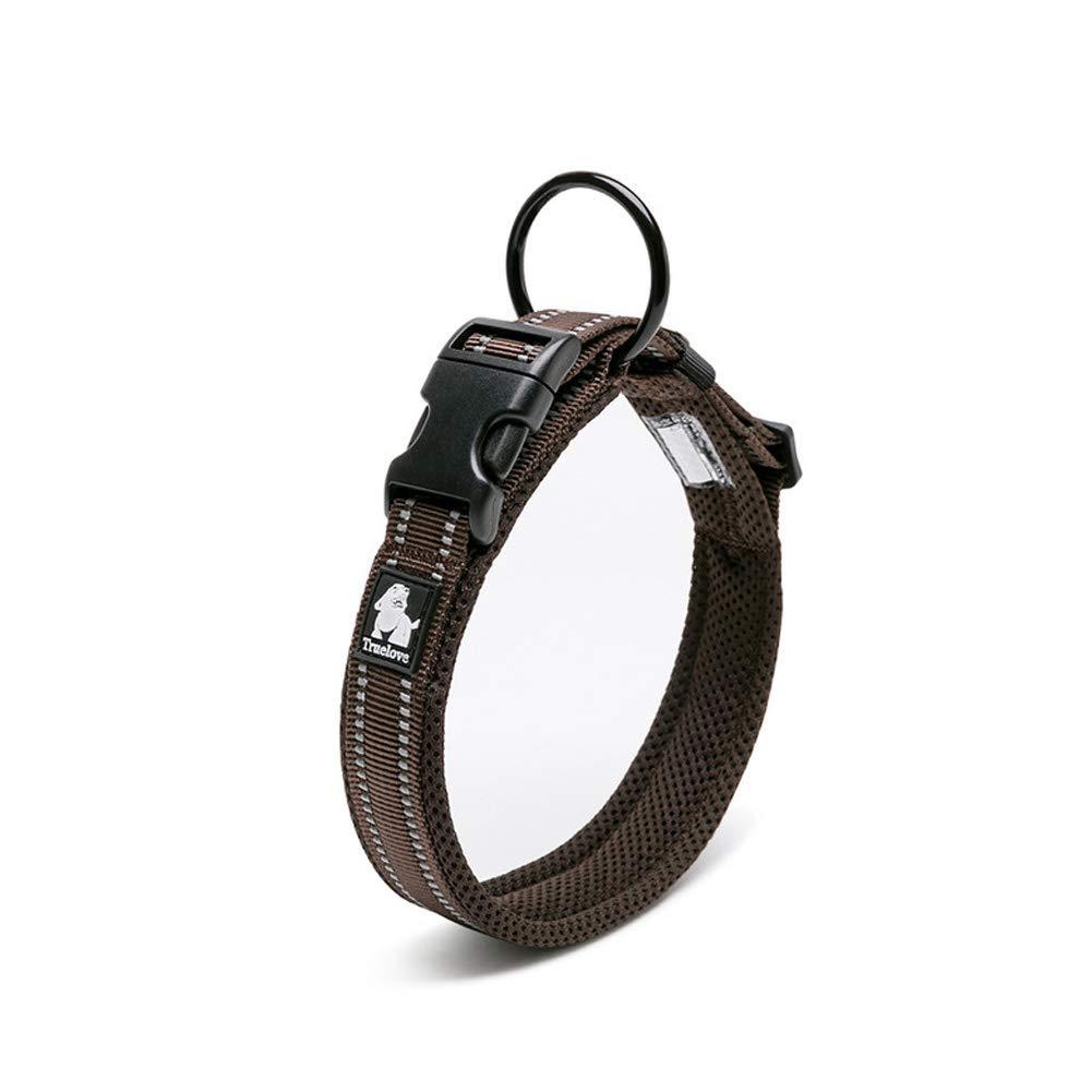 45-50cm Kismaple Adjustable Pet Soft Comfy 3M Reflective Dog Collar Breathable Mesh Dog Collar Training Walking Outside for Samll//Medium//Large Dogs Collars , Black L