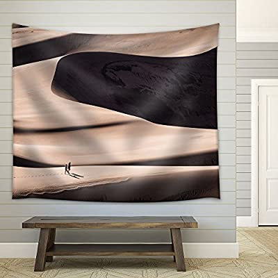 People Walking on The Desert Fabric Wall - Tapestry