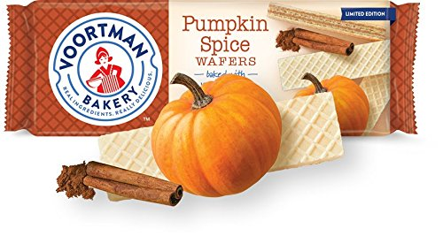 Voortman Bakery Wafers - Baked with Fresh Ingredients, No Artificial Colors, Flavors or High-Fructose Corn Syrup (Pack of 4) (Pumpkin Spice)