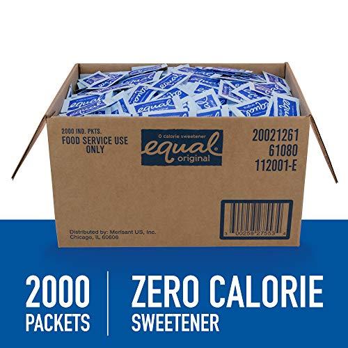 EQUAL 0 Calorie Sweetener, Sugar Substitute, Zero Calorie Sugar Alternative Sweetener Packets, Sugar Alternative, 2,000 Count