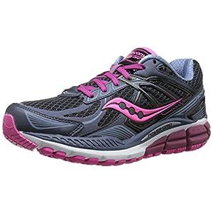 Saucony Women's Echelon 5 Running Shoe, Grey/Pink, 7.5 M US