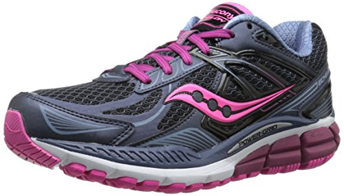 Saucony Women's Echelon 5 Running Shoe, Grey/Pink, 5 M US
