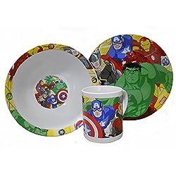Marvel Avengers 3 Piece Ceramic Breakfast Set
