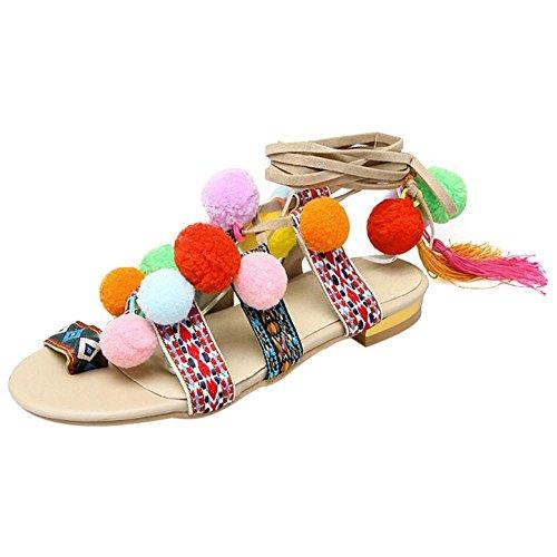 Sandales Femmes Taoffen Lacent Chaussures Beige