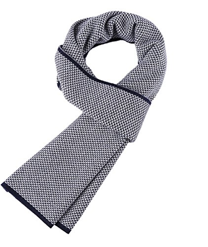 Veniroc Men's Cashmere Scarf Winter Fashion Warm Navy Scarves