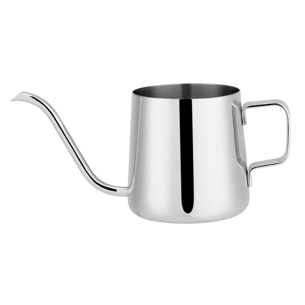 Coffee Pot Kettle, 250ml/350ml Stainless Steel Drip Coffee Pot Long Gooseneck Spout Kettle Cup Long-Spout Coffee Server Tea Tool(250ml Rose Red) GLOGLOW
