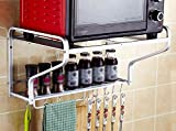 Microwave oven racks Hanging kitchen Oven shelves Shelf racks Rack storage racks -by TIANTA (Style : Two layers)