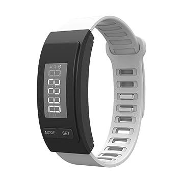 melysEU Pulsera de Reloj Run Step Watch Pulsera Podómetro Contador de calorías Digital LCD Distancia a
