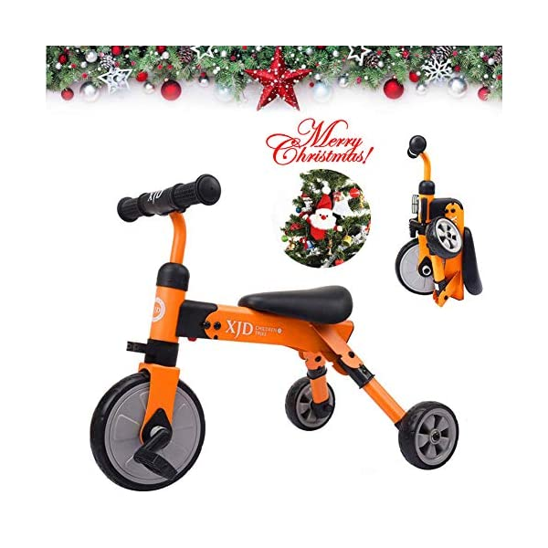 37bfbae3fe9 XJD 2 in 1 Kids Tricycles for 2 Years Old and Up Boys Girls Tricycle Kids  Trike Toddler Tricycles for 2-4 Years Old Kids Toddler Bike Trike 3 Wheels  Folding ...