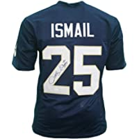 $58 » Rocket Ismail Signed Football Jersey - Notre Dame Blue Custom - Autographed and JSA Authenticated
