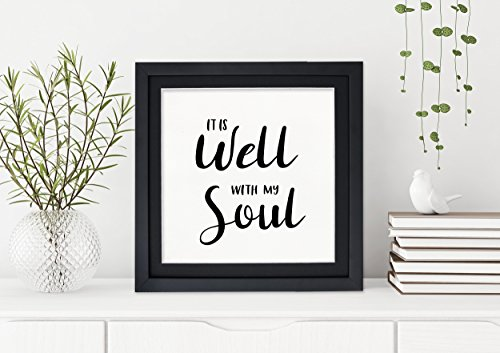 It Is Well With My Soul Fine Art Print. Inspirational Print For Dorm, Nursery, or Home. by Echo Literary Arts